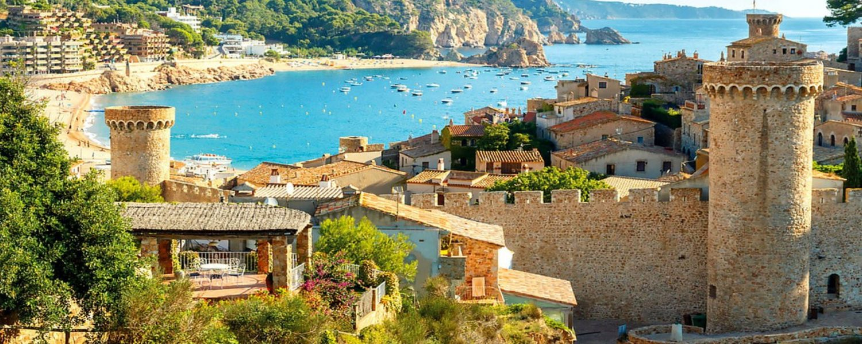 The famous resort of Tossa de Mar on the Costa Brava.